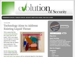 TSA's Evolution of Security blog